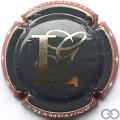 Champagne capsule  Fond noir, lettres or pâle
