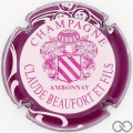 Champagne capsule 16 Rose, contour violet