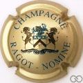 Champagne capsule 8.a Or pâle, Licornes noir