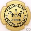 Champagne capsule 2.a Or pâle et noir