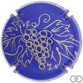 Champagne capsule 29.j Bleu et or