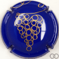 Champagne capsule 30.j Bleu foncé et or