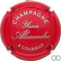 Champagne capsule 5 Rouge et argent