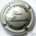 Champagne capsule 8 Argent et noir