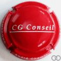 Champagne capsule 19.a CG Conseil, rouge et blanc