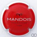Champagne capsule 10 Rouge, contour blanc