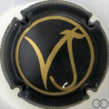 Champagne capsule 14 Noir et or mat