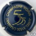 Champagne capsule 2 Bleu foncé et or