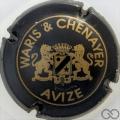 Champagne capsule 2 Noir et or mat, grandes lettres