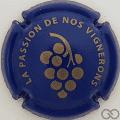 Champagne capsule 1 Bleu et or pâle
