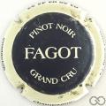 Champagne capsule 5 Noir, contour blanc cassé