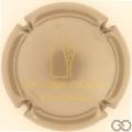 Champagne capsule 1.f Gris métallisé et or