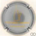 Champagne capsule 1.g Gris-bleuté et or