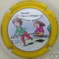 Champagne capsule A1 Polychrome, contour jaune