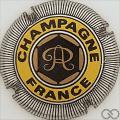 Champagne capsule 6 Or, jaune et acier, striée, quart