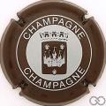 Champagne capsule 30 Marron et blanc cassé