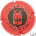 Champagne capsule 30.b Rouge et noir, petit motif