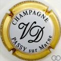 Champagne capsule 5 Blanc, contour or