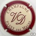 Champagne capsule 3 Crème, contour bordeaux