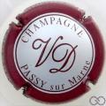 Champagne capsule 4 Argent, contour bordeaux