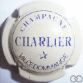 Champagne capsule 3.b Crème et bleu, avec cercle