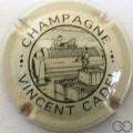 Champagne capsule 5 Crème et noir