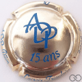 Champagne capsule 16 15 ans ADP, plaqué or