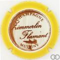 Champagne capsule 33 Contour jaune