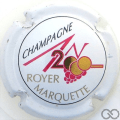 Champagne capsule 613 An 2000, n°613, blanc, lettres or