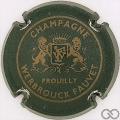 Champagne capsule 1 Vert foncé et or