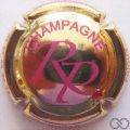 Champagne capsule 11.e Plaqué or  strass rouge