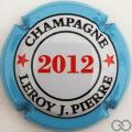Champagne capsule 33.k 2012, contour bleu ciel