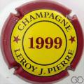 Champagne capsule 13 1999, contour bordeaux
