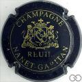 Champagne capsule 2 Bleu-noir et or