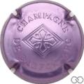 Champagne capsule 18.a Estampée rosé-violacé