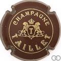 Champagne capsule 4.a Bordeaux foncé, lions détaillés