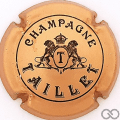 Champagne capsule 3 Cuivre, lions détaillés