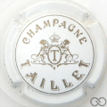 Champagne capsule 10 Blanc et or