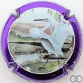 Champagne capsule 12 Contour violet métallisé