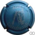 Champagne capsule 32.m Bleu clair métallisé et argent