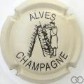 Champagne capsule 19 Crème et noir