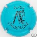 Champagne capsule 32.l Turquoise et noir