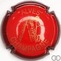 Champagne capsule 24 Rouge et or, striée noir