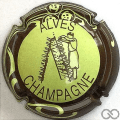 Champagne capsule 32.e Vert pâle, contour marron