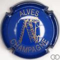 Champagne capsule 32.n Bleu et or, striée