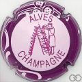 Champagne capsule 32.u Rose pâle, contour sparflex violet