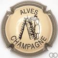 Champagne capsule 27 Crème et noir, striée