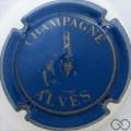 Champagne capsule 3 Bleu mat et or