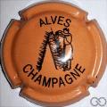 Champagne capsule 32.j Orange terne et noir