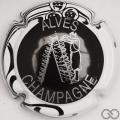 Champagne capsule 32.t Noir, contour sparflex blanc